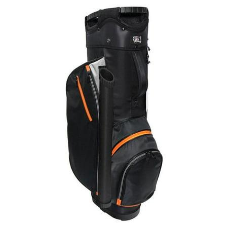 RJ Sports RX0965 RX 6.0 Basic Cart Golf Bags - Charcoal & Orange - 12 x 10 x 36