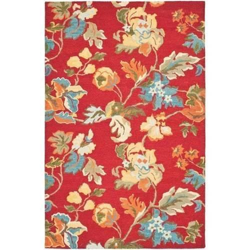 Safavieh Blossom Molly Wool Area Rug, Red/Multi