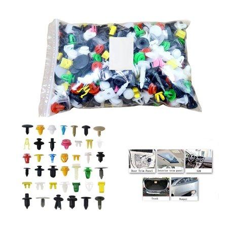 50pcs Automotive Plastic Rivet Car Fender Bumper Interior Trim Push Pin Clips Kit Car Accessories - image 4 of 5