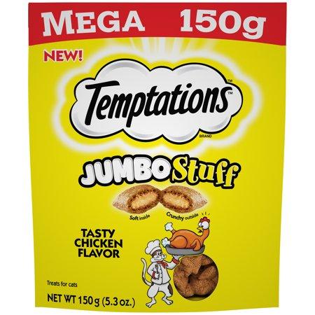 TEMPTATIONS Jumbo Stuff Cat Treats Tasty Chicken Flavor, 5.3 oz. Pouch](Tasty Treats To Make For Halloween)