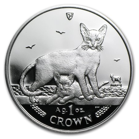 2010 Isle of Man 1 oz Silver Abyssinian Cat Proof