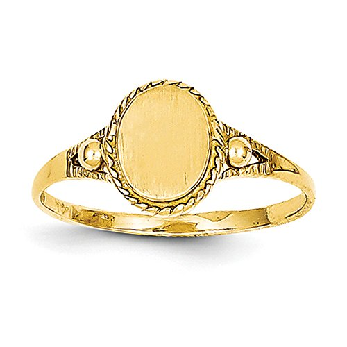 Baby and Children 14K Yellow Gold Fancy Signet Ring