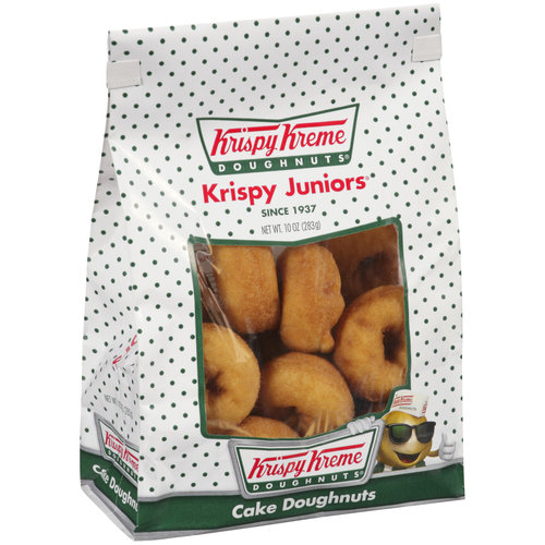 Krispy Kreme Doughnuts Krispy Juniors Plain/Cinnamon Cake Doughnuts, 10 oz