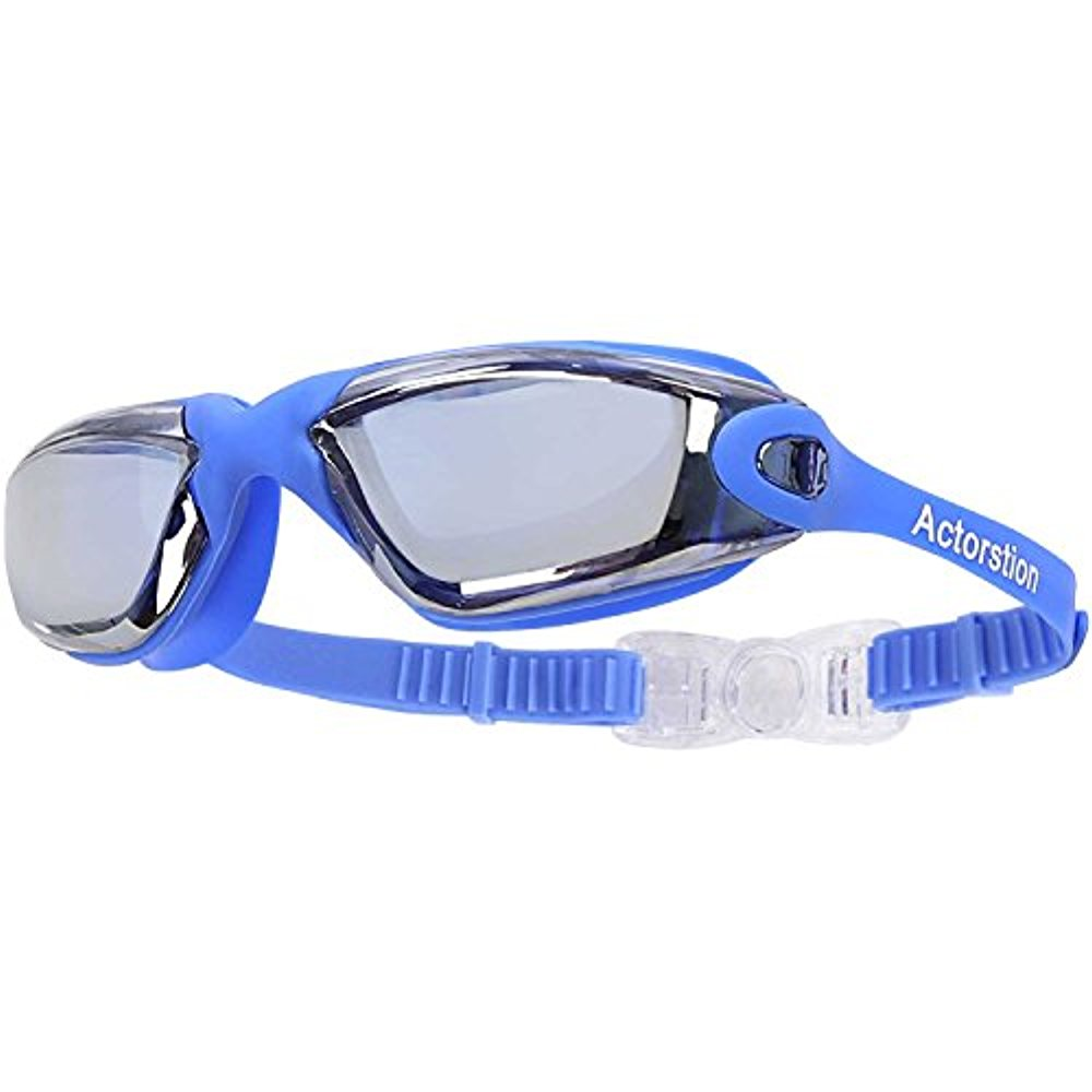 Actorstion Swim Goggles With Anti Fog UV Protection No Leaking Shatterproof for Adult Men Women Youth Kids Children +... by LIVEDITOR LIGHTING