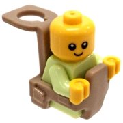 LEGO LEGO City Baby in Baby Carrier Minifigure [No Packaging]