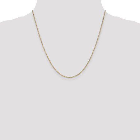 14k 1.4mm Cable Chain Necklace Pendant Charm Round Link Fine Jewelry For Women Gifts For Her - image 7 of 9