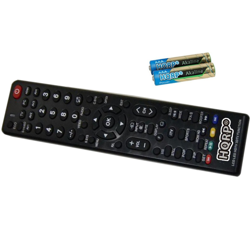 HQRP Remote Control for Sanyo DP32D13, DP32D53, DP37647, DP39843, DP39D14, DP39E23 LCD LED HD TV Smart 1080p 3D Ultra 4K + HQRP Coaster