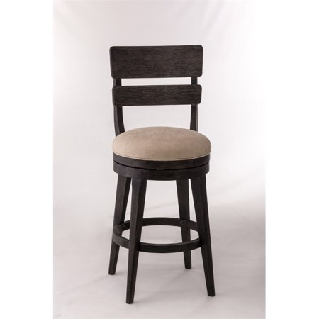 Leclair Swivel Counter Stool, Black Wire Brushed Finish (Black Finish Counter)
