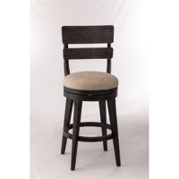 Hillsdale Leclair Swivel Counter Stool, Black Wire Brushed Finish