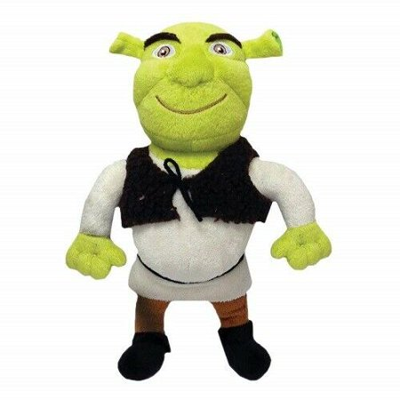 Dog Toys Shrek Themed Plush Squeakers Choose Ogre Donkey or Puss in Boots Cat (Shrek Ogre Babies)