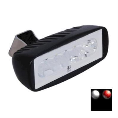 Lumitec Caprera2 - LED Flood Light - Black Finish - 2-Color White/Red Dimming