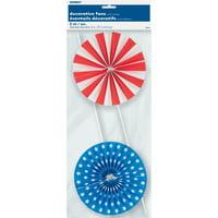 Pinwheel Patriotic Decorative Picks, 2ct