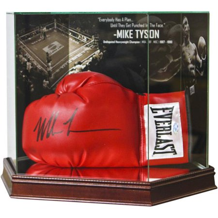 Steiner Sports CASEFOUGLS0MT Mike Tyson Photo Background Glove Case (Steiner Sports Puck Case)