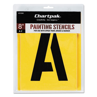 Painting Stencil Set, A-Z Set, Manila, 26/Set, Sold as 1 Set, 26 Each per Set