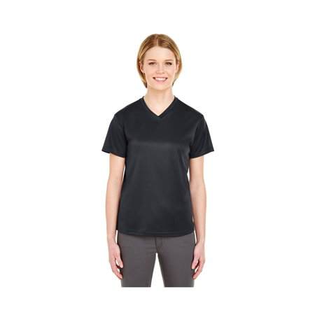 UltraClub Women's Cool & Dry Sport V-Neck Tee, Style 8400L