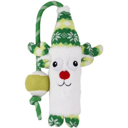 Rope Dog Toy Holiday Reindeer
