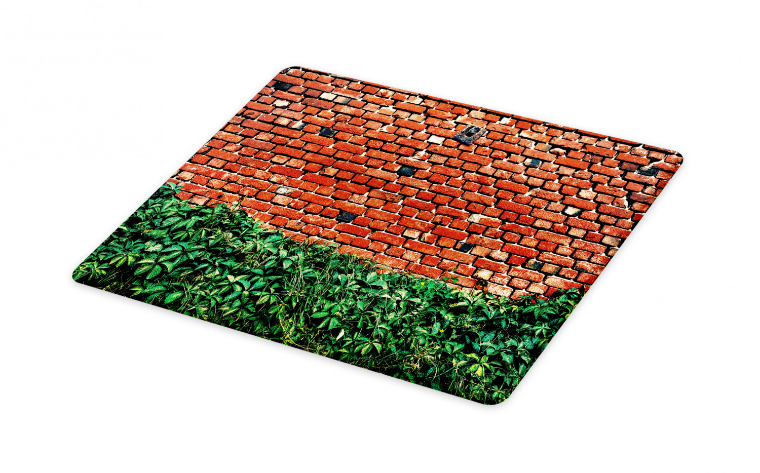 Brick Wall Cutting Board High Contrast Image Of Old Brick Wall Covered With Green Leaves Decorative Tempered Glass Cutting And Serving Board In 3 Sizes By Ambesonne Walmart Com Walmart Com