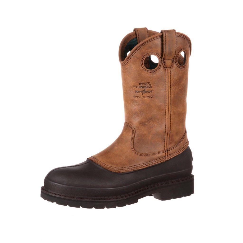 "Image of Georgia Boot Work Men 12"" Muddog Pull Comfort Mississippi Brown G5514"