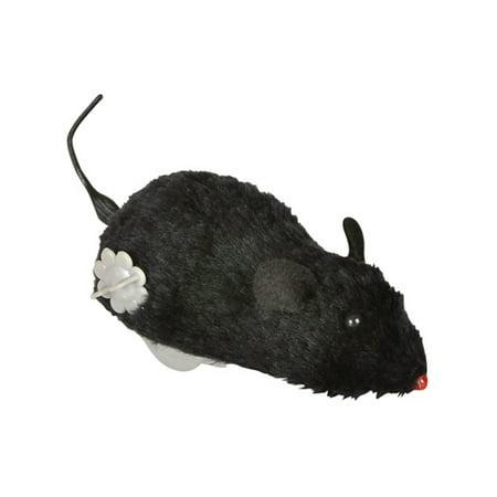 Black Wind Up Prank Rat Cat (Black Cat Golf)