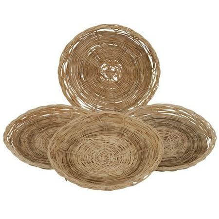 Mainstays Bamboo Paper Plate Holder, 4-Piece Set - Walmart.com