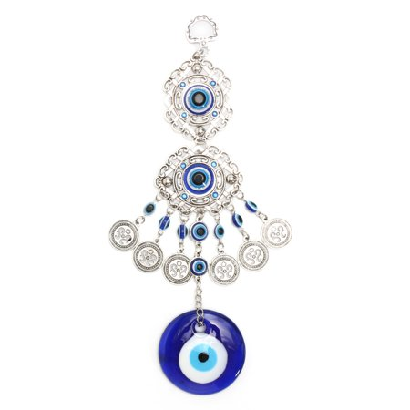 Turkish Blue Evil Eye Hamsa Hand Elephant Amulet Wall Protection Hanging Lucky Pendant Home Decor