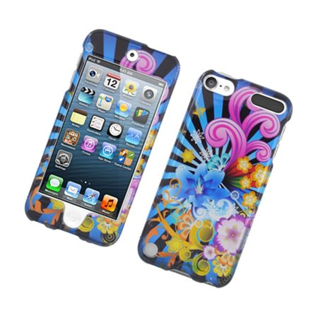 Insten Fireworks Hard Cover Case For Apple iPod Touch 5th Gen -