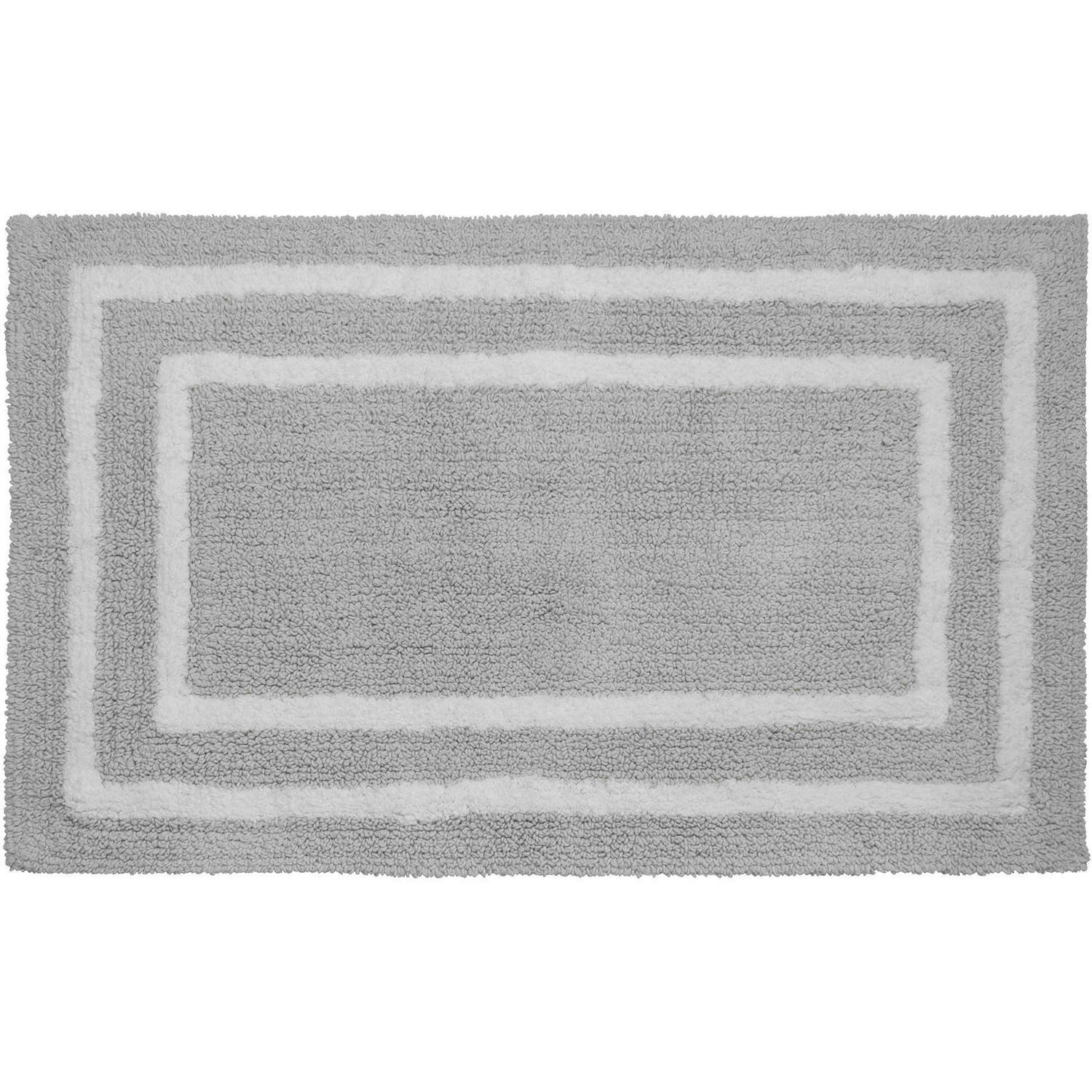 "Jean Pierre Reversible Cotton Plush Double Border 21"" x 34"" Bath Mat"