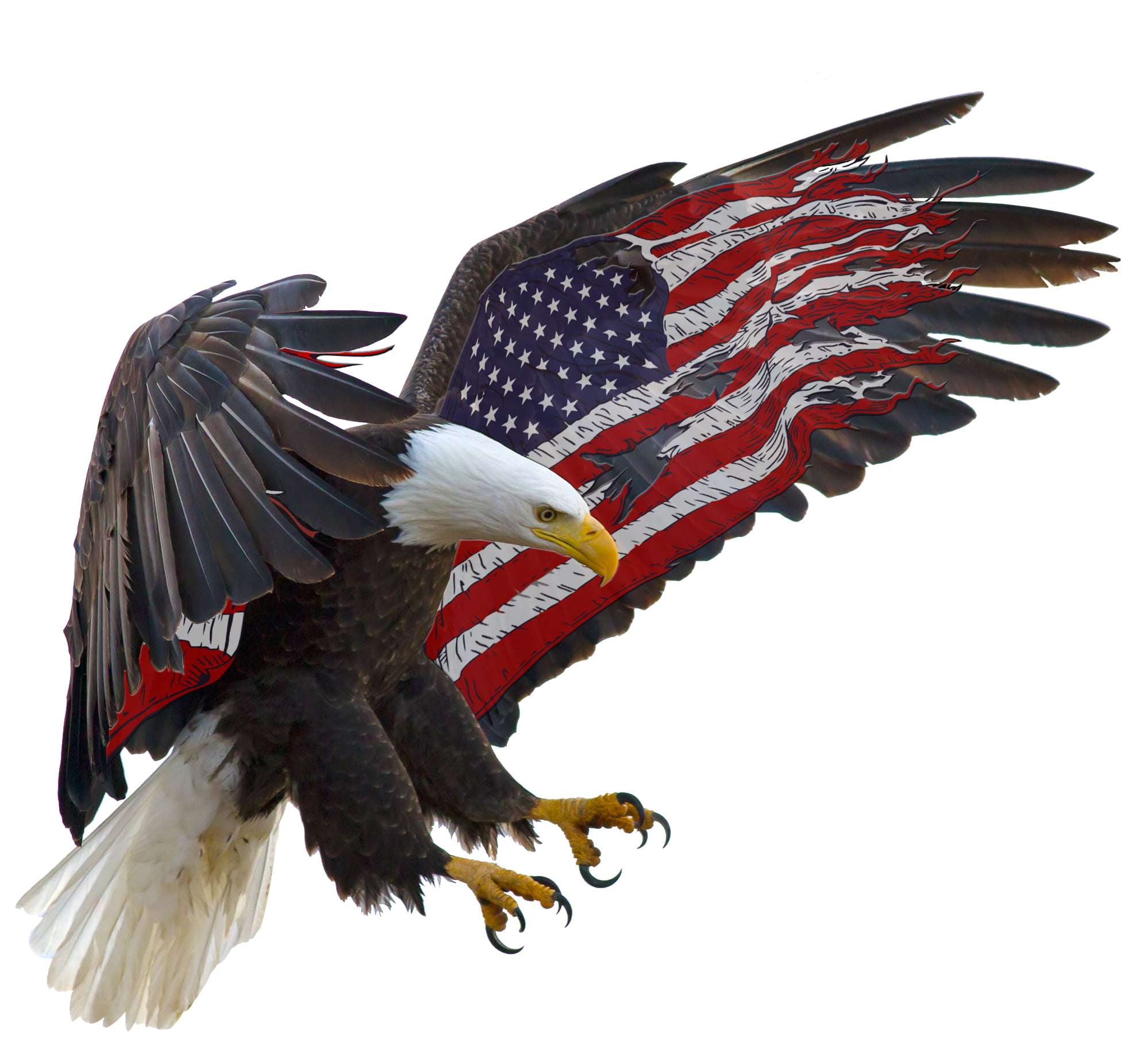 "American Eagle American Flag 5"" Decal Free Shipping in the United States. by NOSTALGIA DECALS"