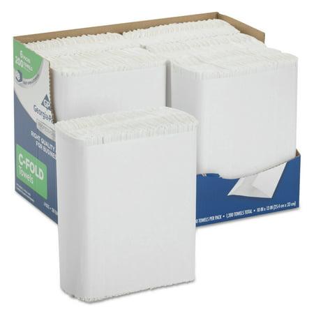 Georgia Pacific Professional Series Premium Paper Towels, C-Fold, 10 x 13, 200/Bx, 6 (High Professional Series Wall)
