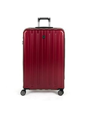 "delsey paris luggage helium titanium 29"" exp. spinner trolley hard case suitcase, black cherry, one size"