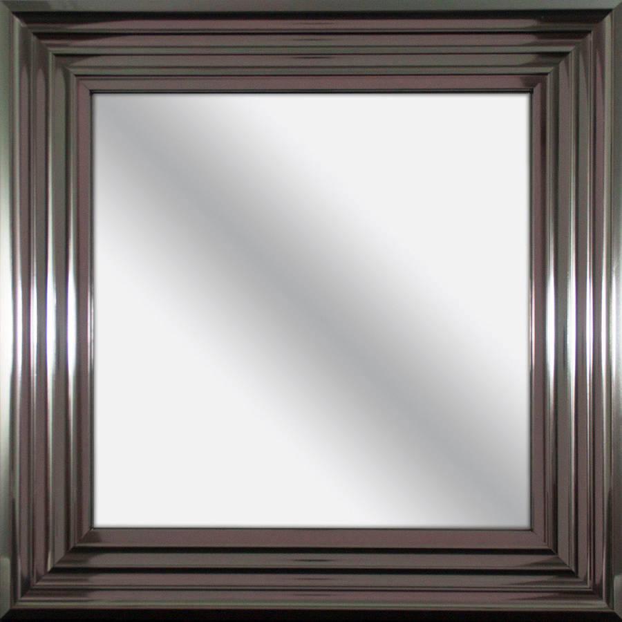 Pinnacle 17x17 Square Stepped Chrome Mirror