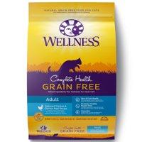 Wellness Complete Health Natural Grain Free Dry Cat Food, Chicken & Chicken Recipe, 11.5-Pound Bag