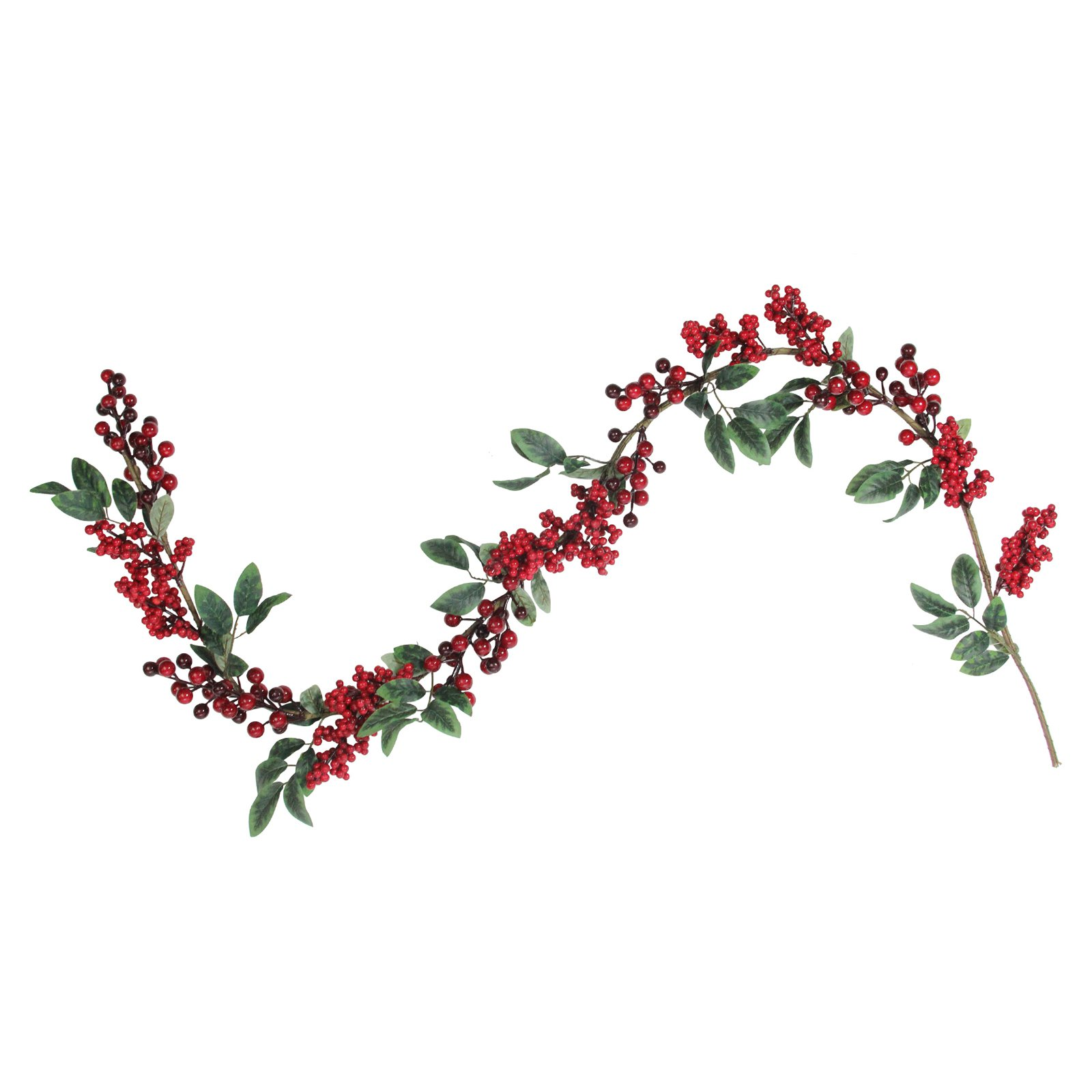 Northlight Berries with Leaves 5 ft. Unlit Christmas Garland