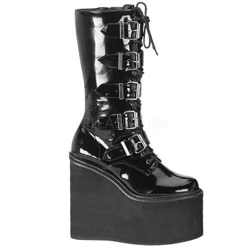 SWI220 B Demonia Vegan Boots Womens BLACK Size: 12 by
