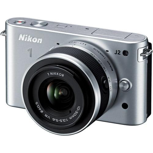 Nikon 1 J2 10.1 MP HD Digital Camera with 10-30mm VR Lens (Silver)