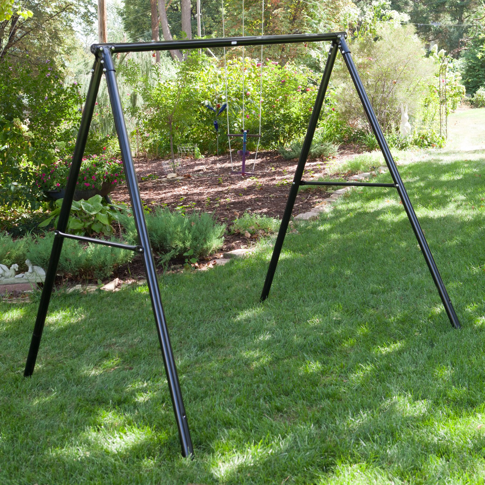 Flexible Flyer Lawn Swing Frame Black Walmart Com