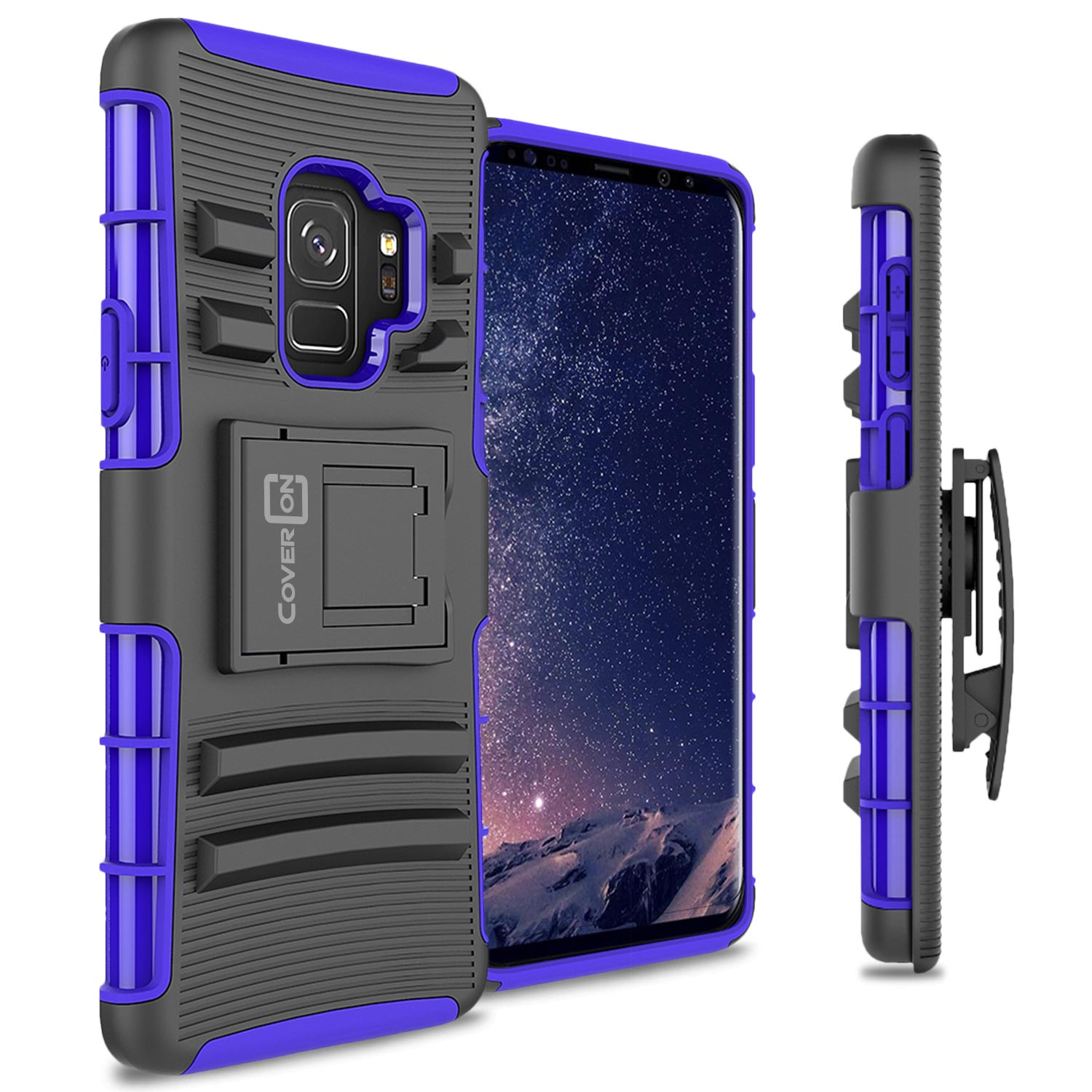 CoverON Samsung Galaxy S9 Case, Explorer Series Protective Holster Belt Clip Phone Cover