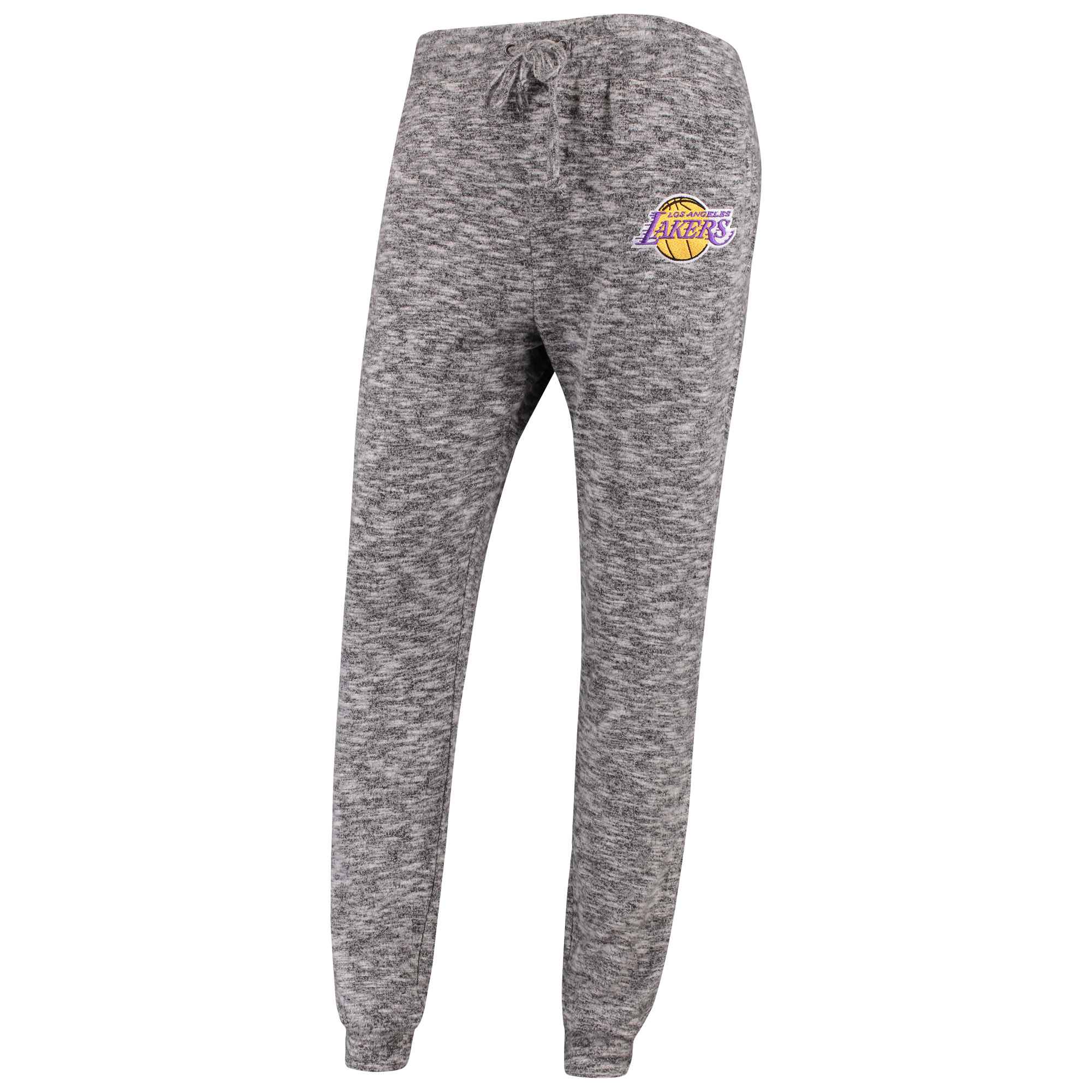 Los Angeles Lakers FISLL Women's Hacci Tri-Blend Jogger Pants - Heather Gray