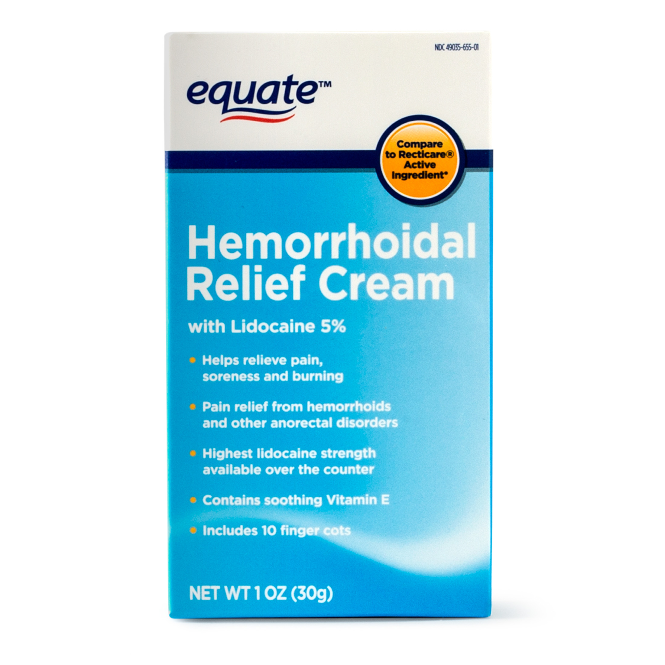 Equate Hemorrhoidal Pain Relief Cream, 1 Oz