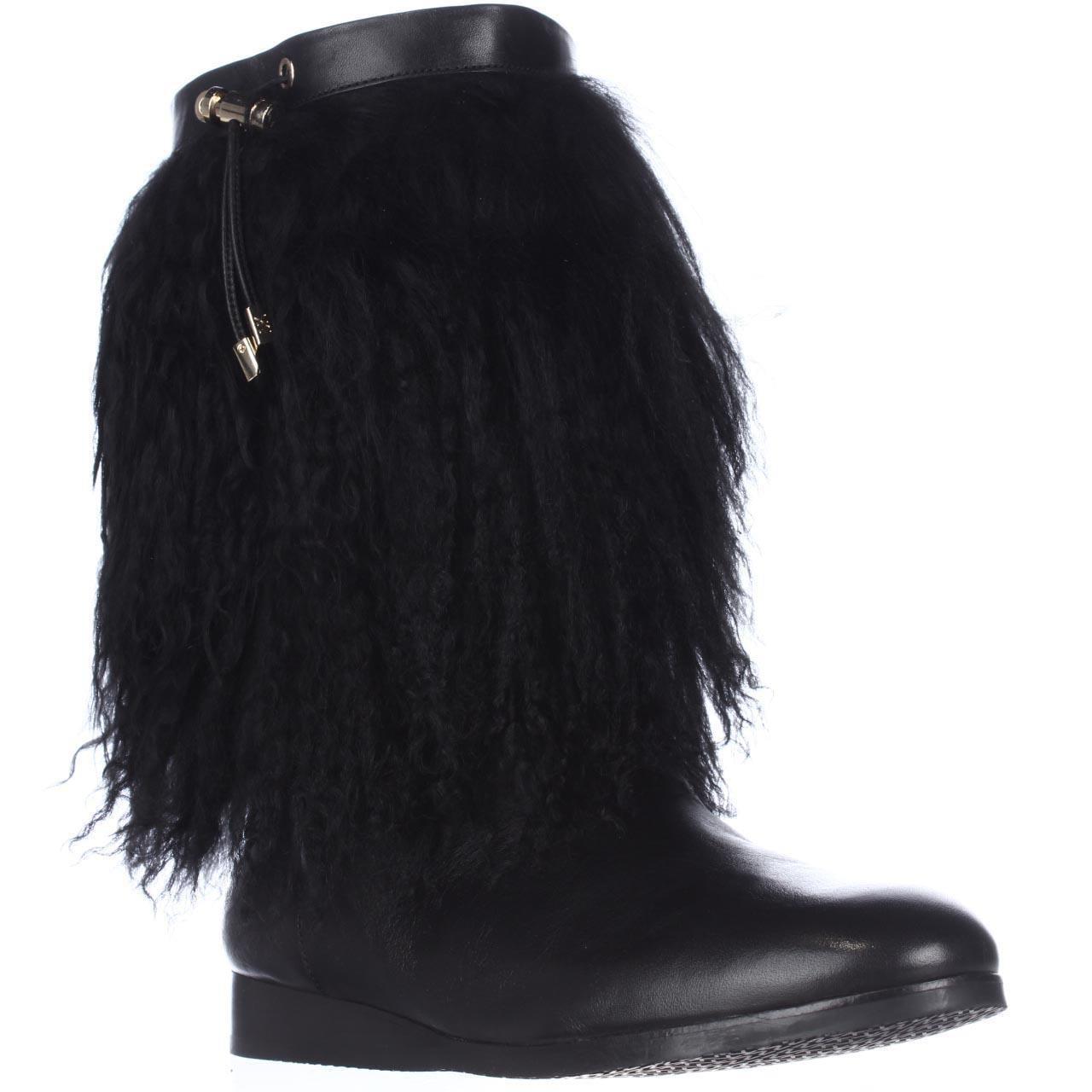 womens michael michael kors lizzi mid fuzzy winter boots
