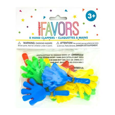 Mini Hand Clapper Party Favors, 8ct