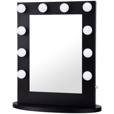 Gymax Hollywood Makeup Vanity Mirror Lighted Tabletops