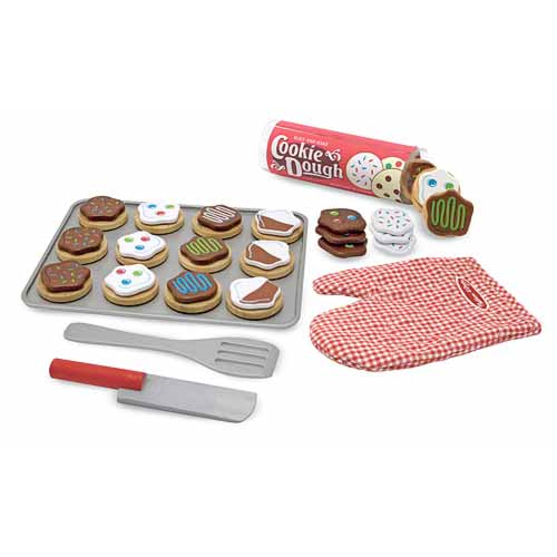 Melissa & Doug Slice and Bake Wooden Cookie Play Food Set ...
