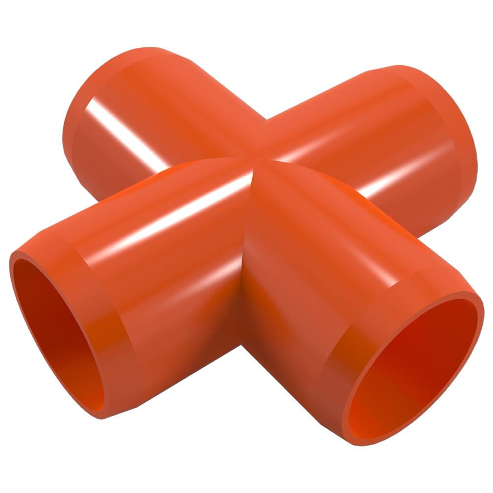 "PVC Cross Fitting, Furniture Grade, 3/4"" Size, White (Pack of 4)"