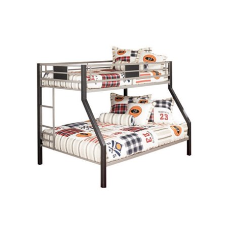 Ashley Furniture Dinsmore Twin over Full Bunk Bed in Black and ...
