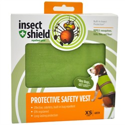 Insect Shield Protective Safety Vest XSmall, Green