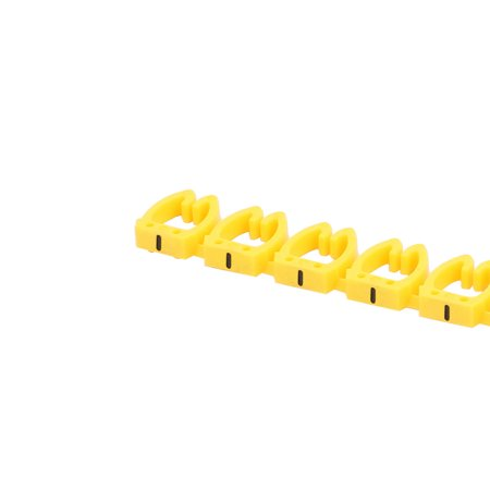 20 Pcs Letters - Network Cable Labels Markers Yellow for 6.0-10.0mm Dia Wire - image 1 of 4