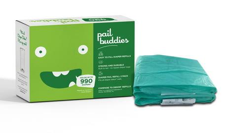 Pail buddies diaper pail refills each refill can hold up for Dekor classic diaper pail refills