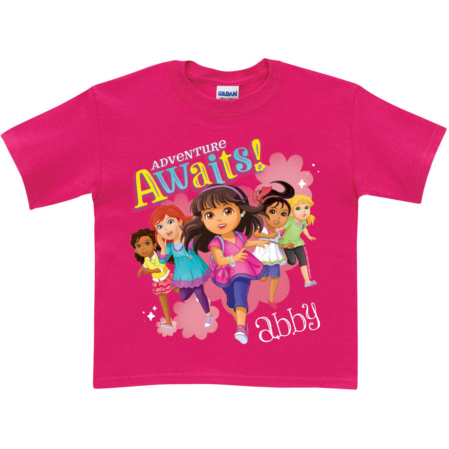 Personalized Dora and Friends Adventure Awaits Toddler Girls' T-Shirt, Hot Pink