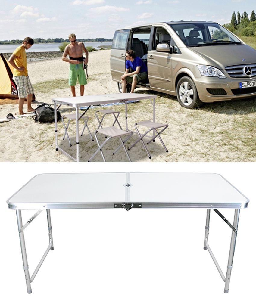 Click here to buy Folding Table Portable Plastic Indoor Outdoor Picnic Party Dining Camp Table.